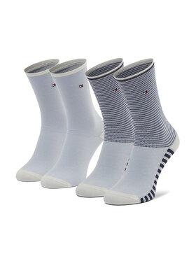 Tommy Hilfiger Tommy Hilfiger 2 pár hosszú szárú női zokni 100002391 Kék