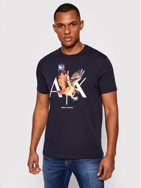 Armani Exchange Armani Exchange T-Shirt 3KZTNE ZJH4Z 1510 Granatowy Regular Fit