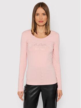 Guess Guess Bluză Izaga Tee W1BI03 J1311 Roz Slim Fit