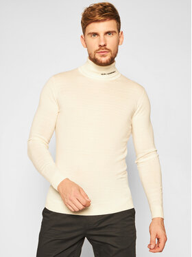 KARL LAGERFELD KARL LAGERFELD Golf Knit 655040 502306 Beżowy Regular Fit