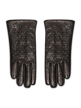 Calvin Klein Calvin Klein Damenhandschuhe Re-Lock Embossed Gloves K60K608509 Schwarz