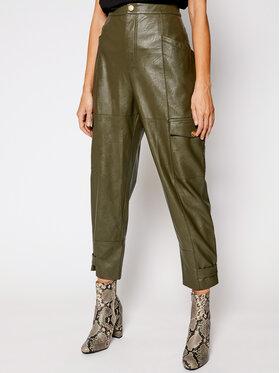Pinko Pinko Παντελόνι δερμάτινο Billings PE 21 UNQS 1Q108A Y6VH Πράσινο Regular Fit