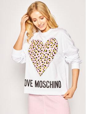 LOVE MOSCHINO LOVE MOSCHINO Felpa W635505M 4183 Bianco Regular Fit