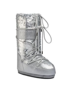 Moon Boot Moon Boot Śniegowce Classic Disco Plus 140253001 Srebrny