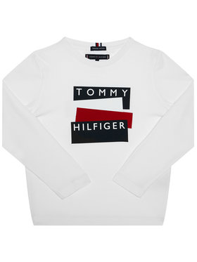 TOMMY HILFIGER TOMMY HILFIGER Palaidinė Sticker Tee KB0KB05977 D Balta Regular Fit