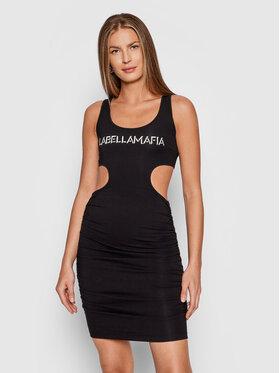 LaBellaMafia LaBellaMafia Hétköznapi ruha 21791 Fekete Slim Fit