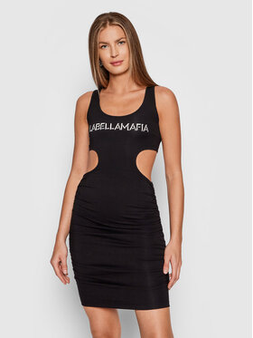 LaBellaMafia LaBellaMafia Každodenné šaty 21791 Čierna Slim Fit