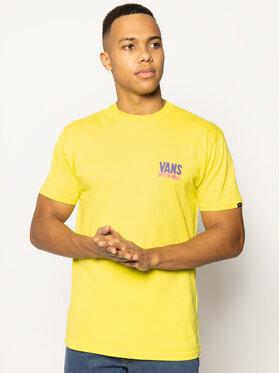 Vans Vans T-Shirt Eyes Open VN0A49Q5RHT1 Gelb Classic Fit