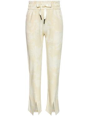 Desigual Desigual Pantaloni trening Pintuck Camo 21SOPK10 Galben Comfort Fit