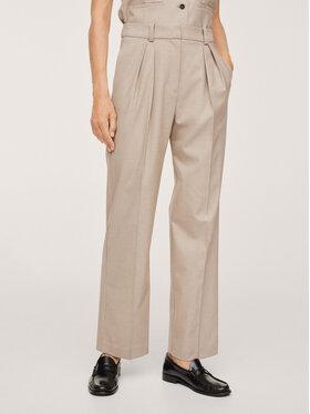 Mango Mango Pantaloni din material Mindy 17084379 Bej Regular Fit