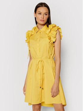 Rinascimento Rinascimento Košilové šaty CFC0017910002 Žlutá Regular Fit