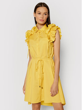 Rinascimento Rinascimento Sukienka koszulowa CFC0017910002 Żółty Regular Fit