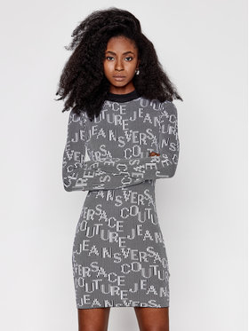 Versace Jeans Couture Versace Jeans Couture Robe en tricot B4HZB810 Multicolore Slim Fit