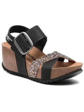 Pepe Jeans Pepe Jeans Sandále Tyron Glitter PLS90288 Čierna