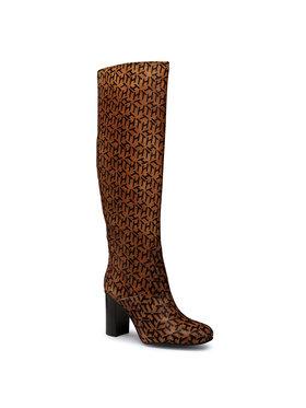 Tommy Hilfiger Tommy Hilfiger Zimske čizme Th Hair Calf High Heel Long Boot FW0FW05169 Smeđa