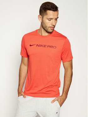 NIKE NIKE Тениска от техническо трико Pro Dry Tee CD8985 Червен Regular Fit
