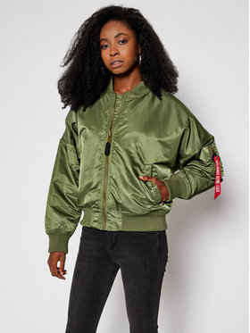 Alpha Industries Alpha Industries Яке бомбър Ma-1 128001 Зелен Oversize