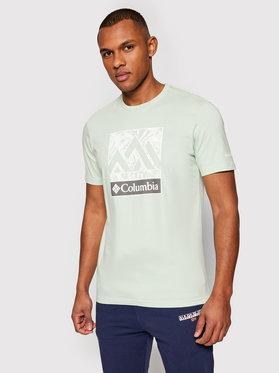 Columbia Columbia T-shirt Rapid Ridge ™ Graphic 1888813 Zelena Regular Fit