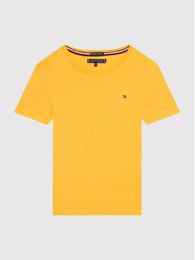 Tommy Hilfiger Tommy Hilfiger T-Shirt Essential Cttn KB0KB06130 M Żółty Regular Fit
