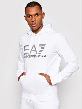 EA7 Emporio Armani EA7 Emporio Armani Суитшърт 3KPM62 PJ05Z 1100 Бял Regular Fit