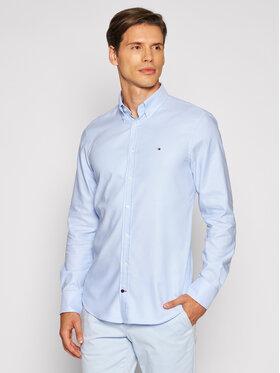 Tommy Hilfiger Tailored Tommy Hilfiger Tailored Koszula Dobby MW0MW18976 Niebieski Slim Fit