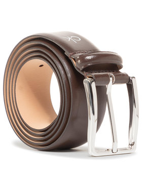 Calvin Klein Calvin Klein Cintura da uomo Score Line Buckle Fixed 35mm K50K506002 Marrone