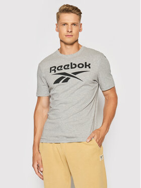 Reebok Reebok T-Shirt Graphic Series Stacked GS1614 Szary Slim Fit