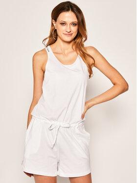 Calvin Klein Swimwear Calvin Klein Swimwear Kombinezon Romper KW0KW01003 Biały Regular Fit