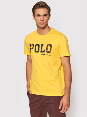 Polo Ralph Lauren Polo Ralph Lauren Póló 710853265002 Sárga Custom Slim Fit