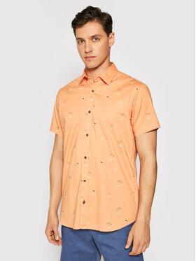 Jack&Jones Jack&Jones Koszula Playa 12187953 Pomarańczowy Regular Fit
