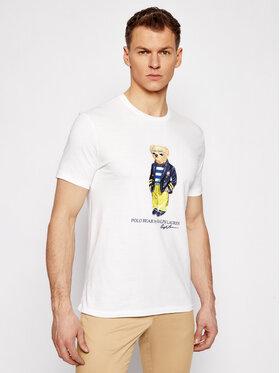 Polo Ralph Lauren Polo Ralph Lauren T-shirt Ssl 710837306002 Blanc Custom SLim Fit
