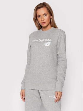 New Balance New Balance Bluza Classic Core Fleece WT03811 Szary Relaxed Fit