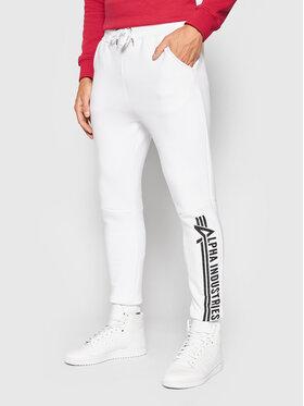 Alpha Industries Alpha Industries Spodnie dresowe Jogger 118364 Biały Regular Fit