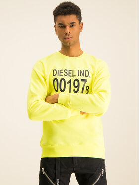 Diesel Diesel Bluza S-Girk-J3 00SDPY 0IAJH Żółty Regular Fit