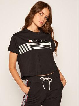 Champion Champion T-shirt Script Logo Stripe 113098 Nero Custom Fit