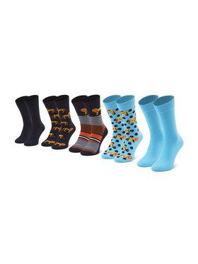 Jack&Jones Jack&Jones Súprava 5 párov vysokých pánskych ponožiek Jaclion 12185859 r.OS Modrá
