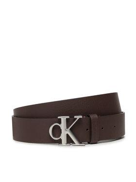 Calvin Klein Jeans Calvin Klein Jeans Ζώνη Ανδρική Mono Hardware Round Belt 35mm K50K507065 Καφέ