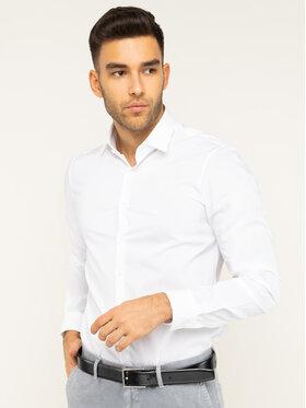 Calvin Klein Calvin Klein Chemise 2ply Poplin Stretch Slim Shirt K10K103025 Blanc Slim Fit