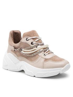 Carinii Carinii Sneakersy B7137 Beżowy