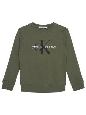 Calvin Klein Jeans Calvin Klein Jeans Sweatshirt Monogram Logo IU0IU00069 Grün Regular Fit