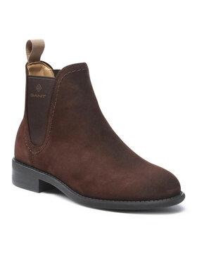 Gant Gant Kotníková obuv s elastickým prvkem Ainsley 23551107 Hnědá