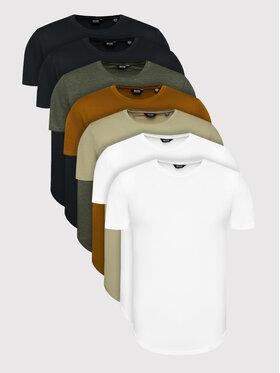 Only & Sons Only & Sons 7db-os póló szett Matt Life Longy 22012787 Színes Regular Fit