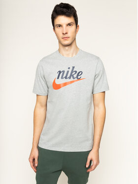 NIKE NIKE T-shirt Heritage BV7678 Grigio Standard Fit