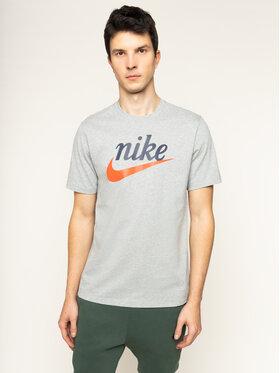 Nike Nike Тишърт Heritage BV7678 Сив Standard Fit