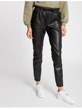 Morgan Morgan Spodnie z imitacji skóry 212-POCUS Czarny Regular Fit