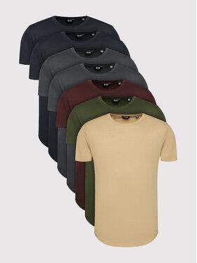 Only & Sons Only & Sons Komplet 7 t-shirtów Matt Life Longy 22012787 Kolorowy Regular Fit