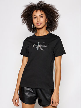 Calvin Klein Jeans Calvin Klein Jeans Póló J20J215316 Fekete Regular Fit