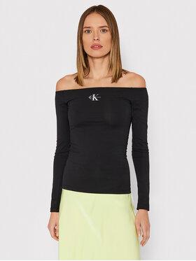 Calvin Klein Jeans Calvin Klein Jeans Блузка Monogram J20J216779 Чорний Slim Fit