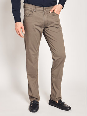 Wrangler Wrangler Pantalon en tissu Greensboro W15QWA172 Marron Regular Fit