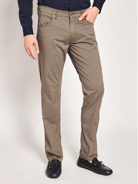 Wrangler Wrangler Pantaloni di tessuto Greensboro W15QWA172 Marrone Regular Fit